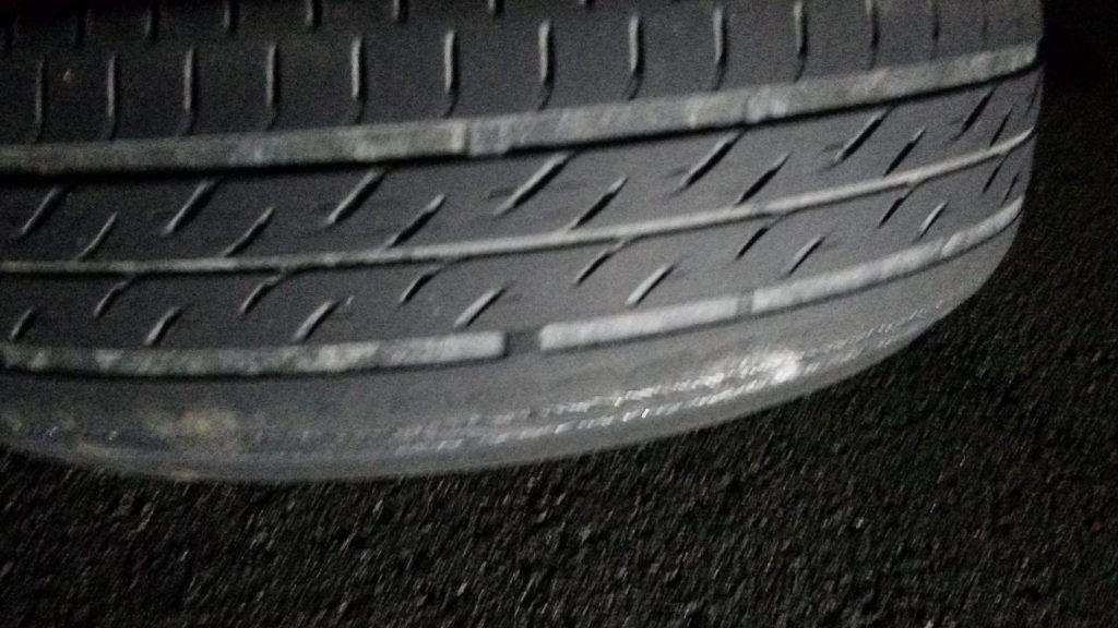 摩耗によるタイヤのパンク