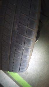 タイヤに刺さった異物