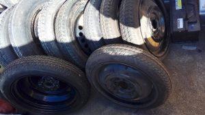 スペアタイヤの在庫