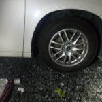ヴェルファイアの出張タイヤ交換