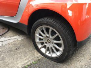 スマートのタイヤパンク