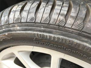 タイヤの損傷