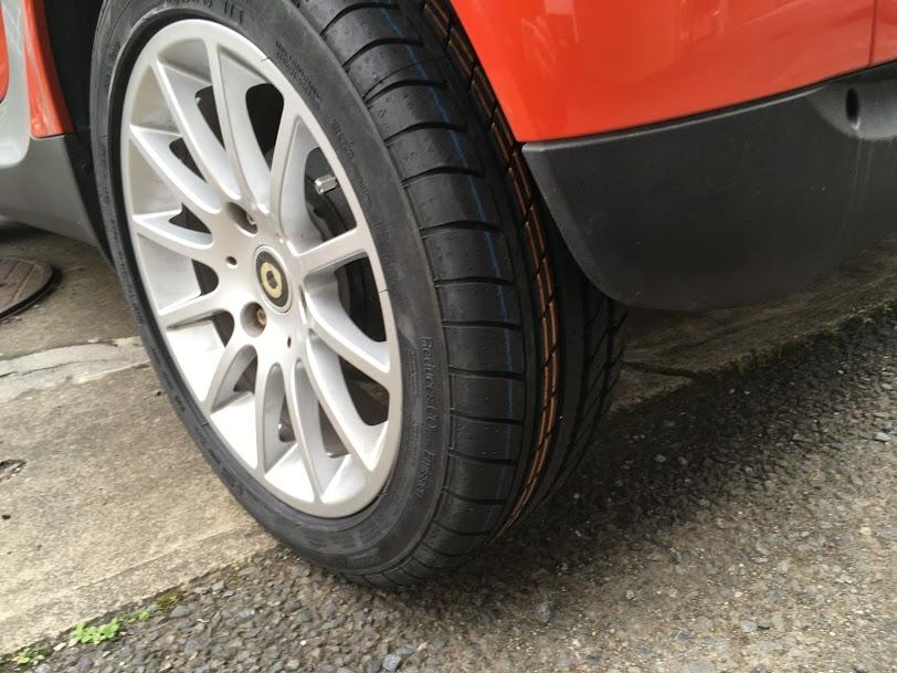 スマートの出張タイヤ交換