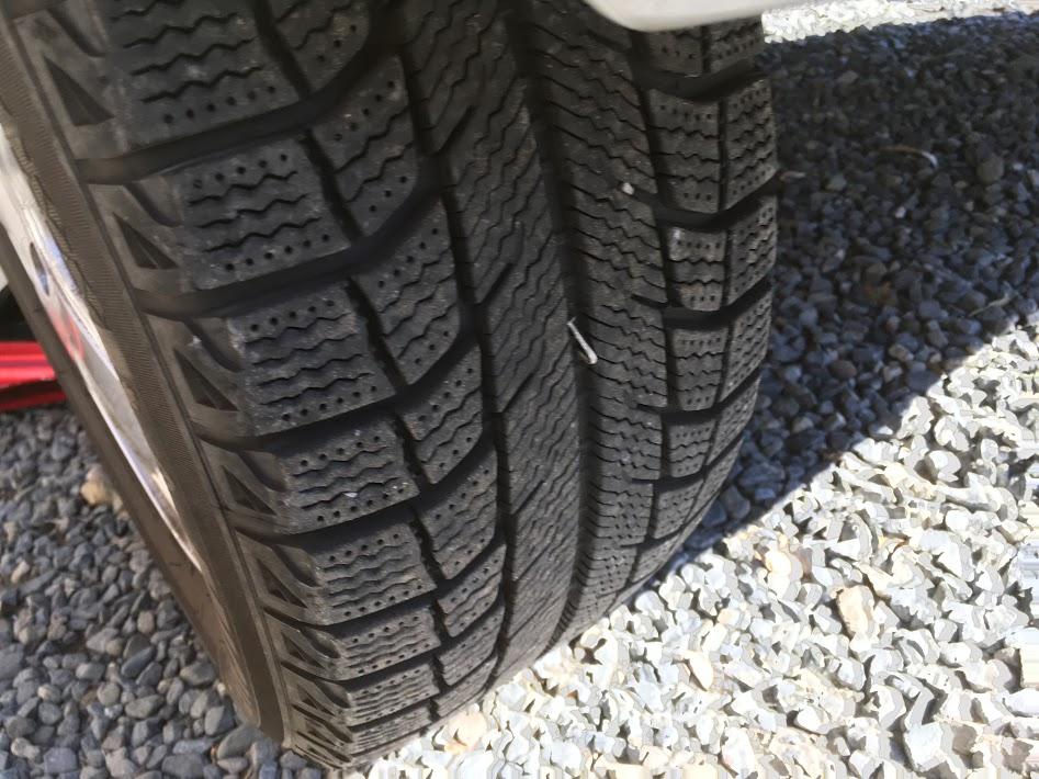 タイヤに釘