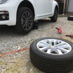 輸入車のスタッドレスタイヤ交換