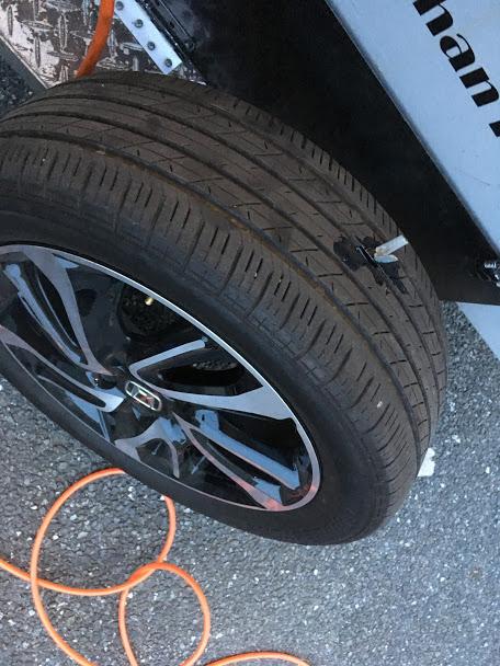 タイヤの外面修理