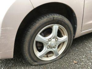 タイヤ側面の損傷