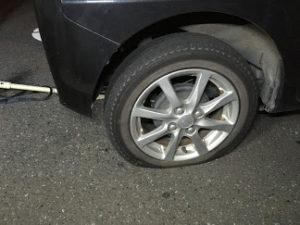 タントのタイヤパンク