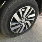 タイヤ速年の損傷