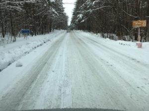 着雪した道路