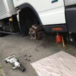 トラックの出張タイヤ交換
